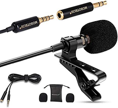 Omnidireccional Lavalier Microfono mejores micrófonos para iPhone