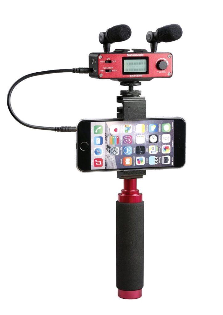 Saramonic SmartMixer Professional Recording Stereo Microphone  mejores micrófonos para iPhone