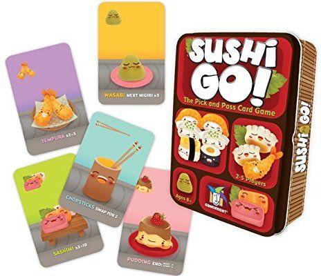 Sushi Go! - El juego de cartas Pick and Pass Mejores Juegos de Mesa para Niños