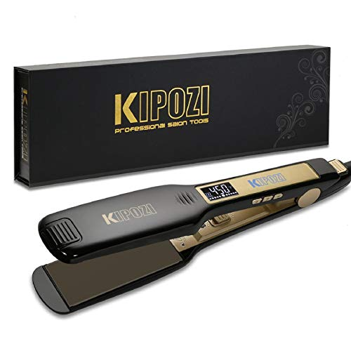 Plancha profesional KIPOZI para alisar el cabello rizado