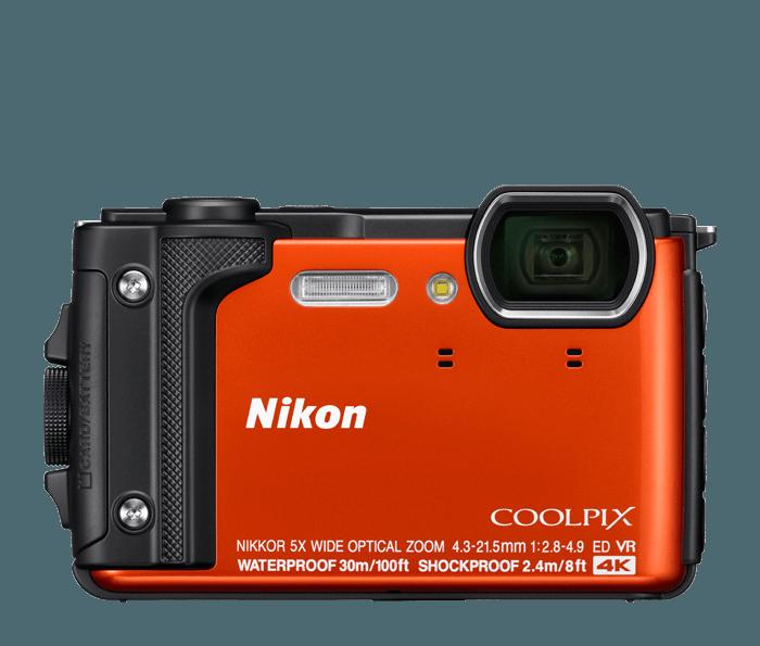 Cámara digital submarina impermeable Nikon W300.