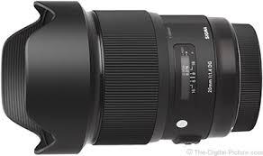 Objetivo Sigma 20mm F1.4 Art DG HSM para Nikon