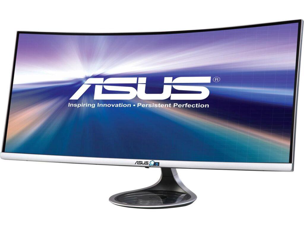 ASUS Designo Curved MX34VQ 34 �UWQHD Adaptive-Sync Qi Cargador inalámbrico Eye Care Monitor sin marco